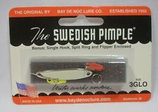 Bay De Noc Swedish Pimple Glo Nickel Fishing Jig Lure Size 3 1/5oz w/Bonus