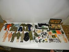 Vtg HUGE Lot 1964 GI Joe Action Figures Wood Foot Locker Weapons Clothes Extras