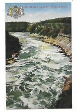 """NIAGARA FALLS, ON"" - Gorge and Whirlpool Rapids - Heraldic Postcard"