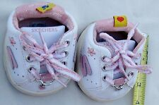 Build a Bear Pink White Sketchers Doll Clothes Shoes with Hearts