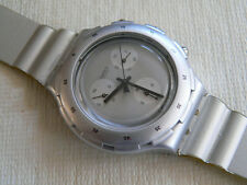1997 Aquachrono swatch watch Silver  SBM107 never worn