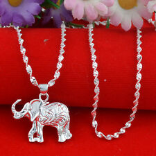 Jewelry Fashion 925 silver elephant Pendant  gift for women N-35