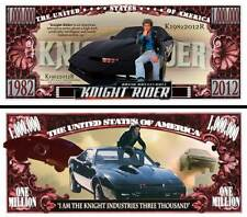 Knight Rider ~ Kitt ~ Million Dollar Bill Collectible Funny Money Novelty Note