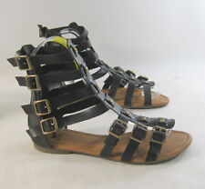 Summer NEW blacks/gold WOMEN flat open toe sexy Gladiator SANDALS shoes SIZE 8.5