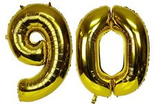"16"" 90 Gold Number Balloons 90th Birthday Party Anniversary Foil Balloon Decor"