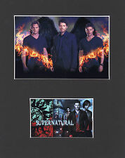 Supernatural Dean & Sam Winchester with Castiel Mounted picture