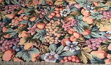 Vintage Brocade Upolstery Fabric w/ Fruit - 1.5 Yards