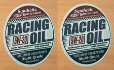 2x motor aceite oil racing Pegatina Sticker Oldtimer Hot Rod vintage retro nuevo m014