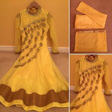 READYMADE Asian Anarkali Suit For Girls.UK SIZE : 8 (bust-36,Top length-46)
