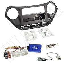 Hyundai i10 ab2013 Doppel-DIN Radioblende+FACH+JVC Lenkrad Interface+Antenne Set