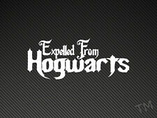 Expelled From Hogwarts Funny Harry Potter Car Sticker Decal