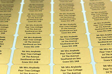 520 PERSONALISED GOLD LABELS 21mm X 38mm - MINI LABELS