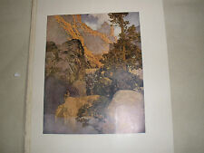 Maxfield Parrish 1909 Print: Nude Bellerophen by Pirene FountainL Early printWOW