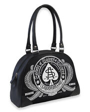 Liquor Brand Sinners Gothic Punk Rockabilly Knitted Bowling Bag Purse B-OBW-025