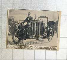 1923 Motorcycle & Car Fire Engine Suitable For Small Villages