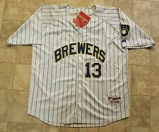 Zach Greinke Milwaukee Brewers Authentic Jersey Majestic 80's sz 54 BNWT