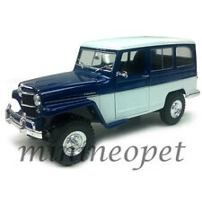 ROAD SIGNATURE 92858 1955 55 WILLYS JEEP STATION WAGON 1/18 DIECAST BLUE