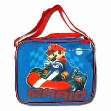 Lunch Bag Insulated Nintendo Wii Mariokart Mario Bros Blue Red New