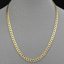 227/24 - Men's Necklace 14K Gold Plated 7.5 mm / Cuban Link / Chapa de Oro