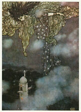 Dulac, Rubaiyat of Omar Khayyam, ready mounted vintage print  Star spangled gown