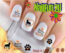 "RTG Set#115M DOG BREED ""Boston Terrier MOM 2"" WaterSlide Decals Nail Art Transfr"