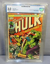 THE INCREDIBLE HULK #181 (Wolverine 1st app) CBCS 3.0 Marvel Comics 1974 cgc