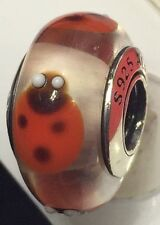 new Authentic Pandora 925 ale silver beads charm  790651 Red Ladybugs Retire 54