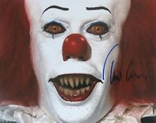 TIM CURRY signed STEPHEN KING's IT Pennywise photo  REAL/OBTAINED IN-PERSON