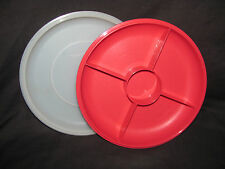 Tupperware Red Small Serving Center with Seal