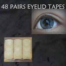 48 pairs women eye charm double eyelid tape invisible self adhesive eye makeup