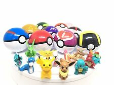 Pikachu POKEMON GO 9 Pop-up Pokeballs + 9 Random Mini Figure Christmas Gift