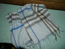 Womens Cashmere Royal Rossi Winter Accessory Scarf Blue Plaid