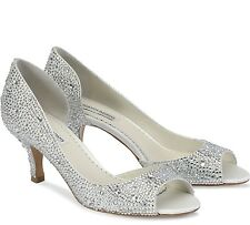 Benjamin Adams London Divine D'Orsay Crystal Pumps Wedding Bridal 37,5 8 NEW