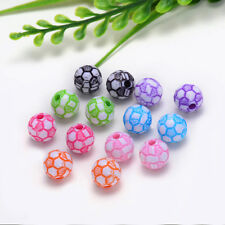 10mm 20PCS charm for ASSORTED acrylic football pattern beads Free shipping YZ033