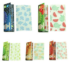250 Leaves Set 5 Fruit Flavored Smoking Cigarette Hemp Tobacco Rolling Papers F