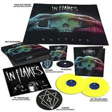 In Flames - Battles Boxset Digipak CD+2 Yellow Vinyl LP slipmat poster