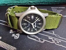 VINTAGE HAMILTON KHAKI MILITARY 9821C STAINLESS  37MM CASE QUARTZ WATCH