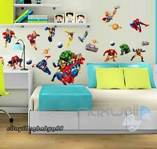 Large Spider man Iron man Avengers Wall decal Removable sticker kids decor mural