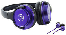 Able Planet Musicians' Choice Headphones + Bonus Sound Isolation Earbuds (PURPLE