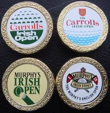 4 x Irish Open - Collectable Metal Golf Ball Markers from 1987/1988/1993/1994