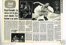 Coupure de presse Clipping 1975 (2 pages) Roger Garaudy Ludmila Tcherina