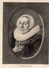 EAU FORTE 1860 / LA FEMME DE SCRIVERIUS Frans Hals 1584-1666