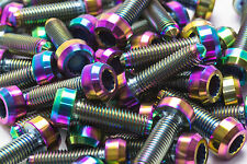 10x Titanium Rainbow Bolts for BBS Split Rim Wheels, M7 x 24mm for RX2, RS2...