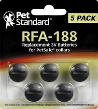 PetSafe Compatible RFA-188 Replacement Batteries (Pack of 5)  PetStandard NEW