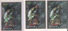 Sharp 1996 1997 Topps Finest Stephon Marbury 3 Rookie Card Lot # 62
