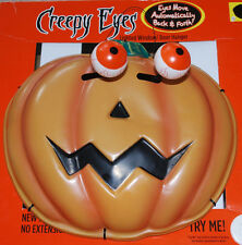 Creepy Eyes Lighted Window Door Hanger Jack-o-Lantern Eyes Move Halloween Decor