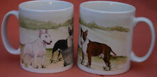 BULL TERRIER DOG Mug Off to the Dog Show Sandra Coen artist sublimation print