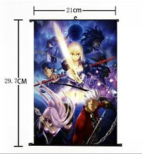 Hot Japan Anime Fate Stay Night UBW Saber Home Decor Poster Wall Scroll 21*30CM