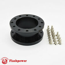 "1.5"" Steering Wheel Spacer Black Aluminum for MOMO NARDI ISOTTA SPARCO OMP"