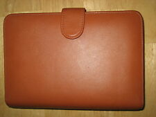 NEW A&E leather brown organizer desk pocket   phone  book monthly weekly